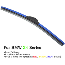 Newest Four Colors Windscreen Wiper Blades For BMW Z4 Series E85 E89 Model 2002-2017 Fit U/J/L Hook Arm Auto Soft Rubber Wipers for lexus nx200 nx300h fit pinch tab arm wiper blades windscreen wiper blades wiper front auto accessories 2017 2018