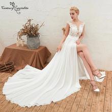 Boho Свадебное платье 2020 кружевное шифоновое для матери невесты