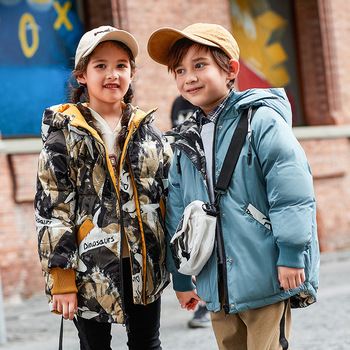 2020 new children's down jacket boys and girls angels