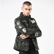 2019 Mens Jackets Street Camouflage Jacket Autumn New European Style Slim Collar Shirt Clothes Man