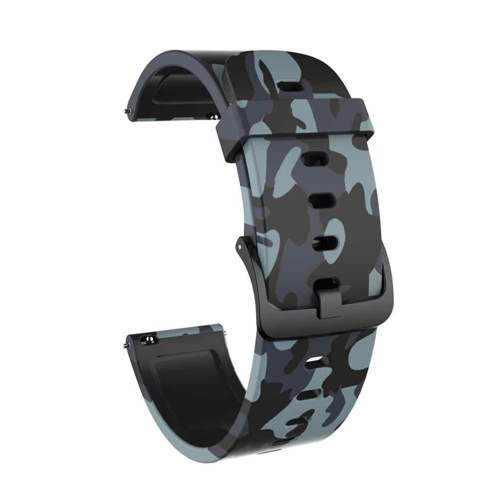 לxiaomi Huami Amazfit GTS צמיד רצועת השעון הסוואה סיליקון שעון רצועת 20mm רוחב פס