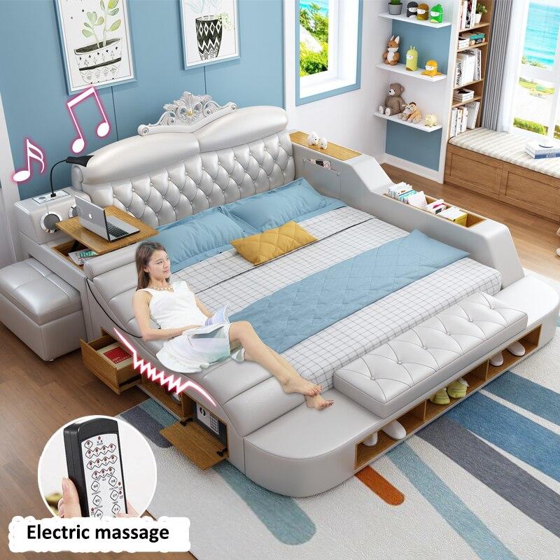 wholesale luxury modern bedroom furniture set tatami smart furniture massage bed