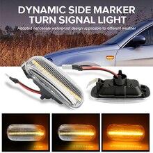 цена на 2Pcs Led Dynamic Side Marker Turn Signal Light Sequential Blinker Light For Audi A3 S3 8P A8 D2 TT 8N Car Accessories 8N0949127A