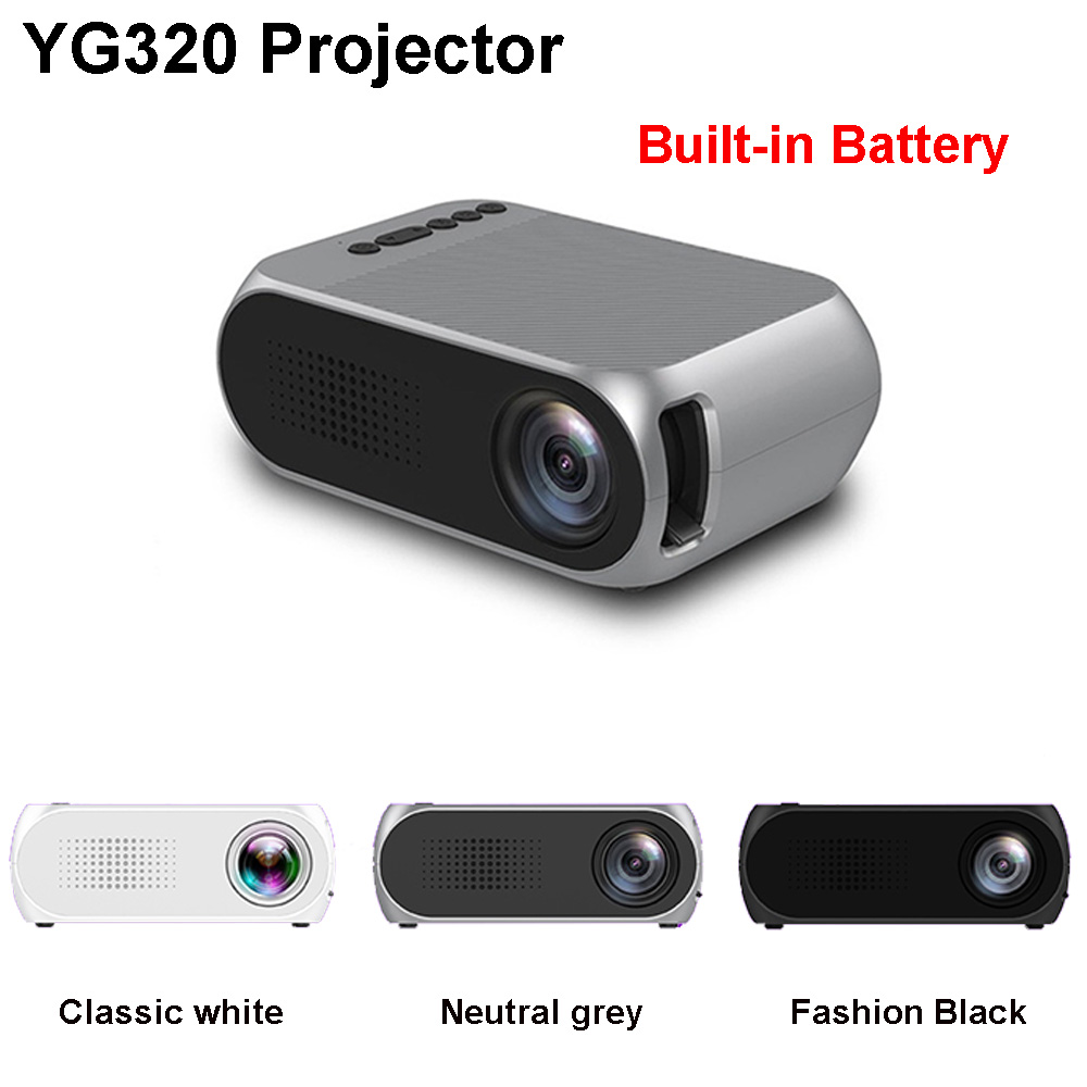 Mini Projector YG320 Yg200-Upgrade Portable Home Theater Optional-Battery HDMI USB