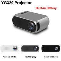 YG320 Mini Projektor YG300 YG200 Upgrade Tragbare Led Projektor Audio HDMI USB Mini Projektor für Heimkino Optional Batterie