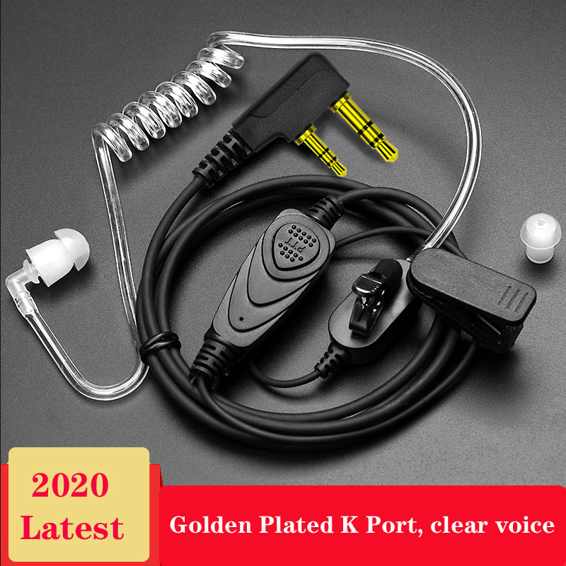 2 Way Radio Earpiece Covert Acoustic Tube Bodyguard FBI Earphone Anti-radiation Headset 2-pin Walkie Talkie
