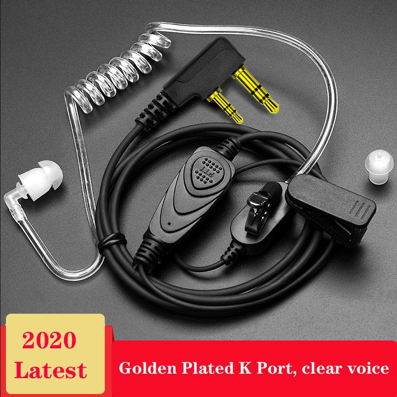 2 Way Radio Earpiece Covert Acoustic Tube Bodyguard FBI Earphone Anti-radiation Headset 2-pin Walkie Talkie