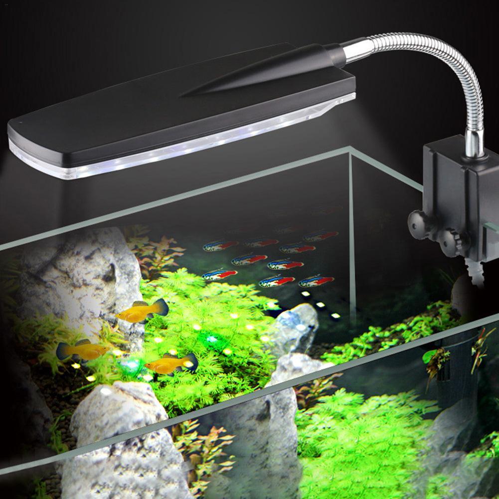 LED Aquarium Light Fish Tank Light USB Plug Waterproof Lamp White and Blue Underwater Lights     - title=
