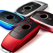 Wysokiej jakości chromowany TPU obudowa kluczyka do samochodu pokrywa torba pasuje do Mercedes Benz A B C E G S M CLS GLA klasa nowy klucz osłona ochronna łańcuchy
