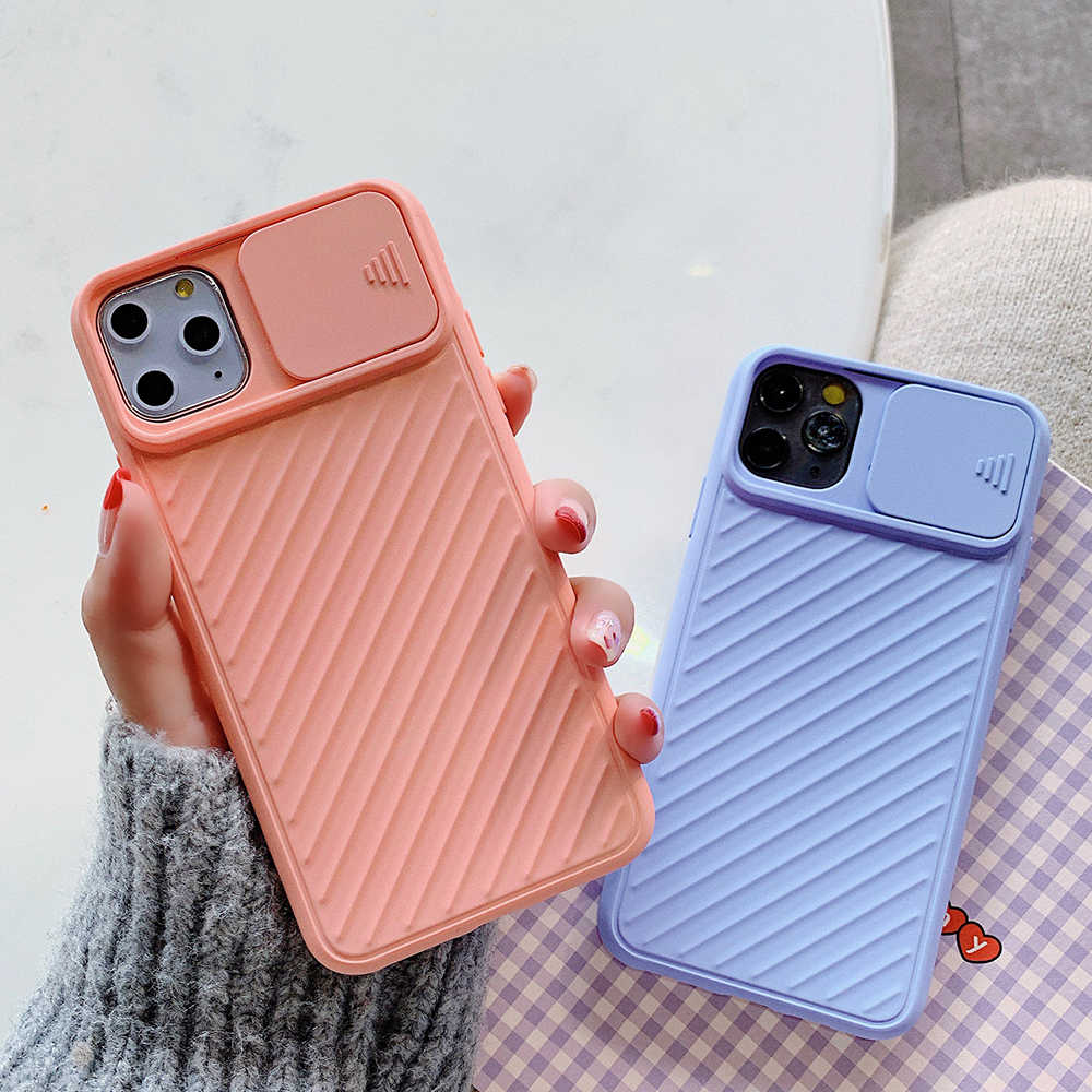 SUYACS מצלמה הגנת טלפון מקרה עבור iPhone 11 פרו Max XR X XS מקסימום 7 8 6 בתוספת מקרה מוצק צבע רך TPU עמיד הלם חזרה כיסוי