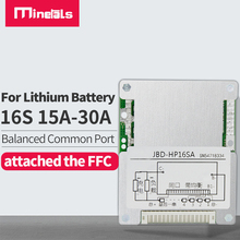 لوحة حماية البطارية 16S BMS PCM 60V18650 48V 32650 PCM, BMS 15a 20a 25a 30a مع وحدة بطارية ليثيوم متوافقة bms