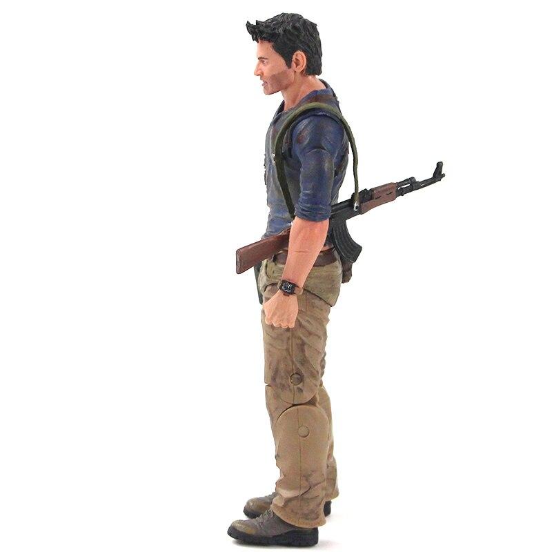 Heb7418a84a144fcba23e119e705139a9b Action Figure Uncharted 4 nathan drake arma edição final figura de ação brinquedo de modelo colecionável