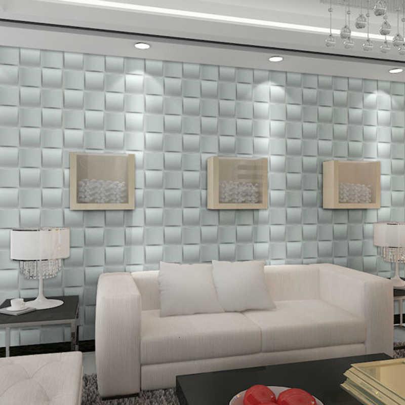 4 pièces/lot 30x30cm 3D autocollant mural Art panneau mural géométrique coupe diamant bois sculpté autocollant mural fond décor conseil maison décor
