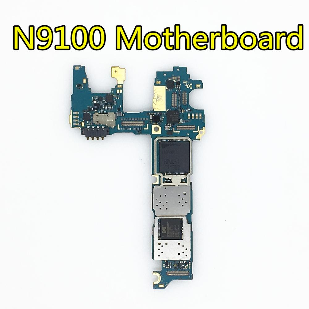 Full Working Used Original Board For <font><b>Samsung</b></font> <font><b>GALAXY</b></font> <font><b>Note</b></font> <font><b>4</b></font> N9100 <font><b>Motherboard</b></font> Logic Mother Board Plate image