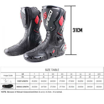 Motorcycle boots men speed 4 seasons Protective Gears moto shoes Black red white motorcycling boot motocross boots