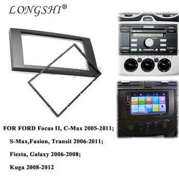 2Din frame to Car Radio for C-Max S-Max Fusion Transit Fiesta use car Multimedia radio player Double din Fascia For Ford Focus image