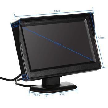 4.3 Pollici Auto Monitor Per Videocamera vista posteriore TFT Display LCD Reverse Monitor Della Macchina Fotografica HD Digital Video a Colori Dello Schermo di Ingresso NTSC PAL-in Monitor per auto da Automobili e motocicli su