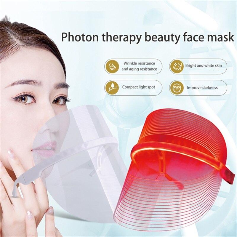 Masque LED Photon du visage lumière beauté salo rajeunissement de la peau belleza 3 couleurs mascara thérapie de LED rides acné serrer l'outil de la peau