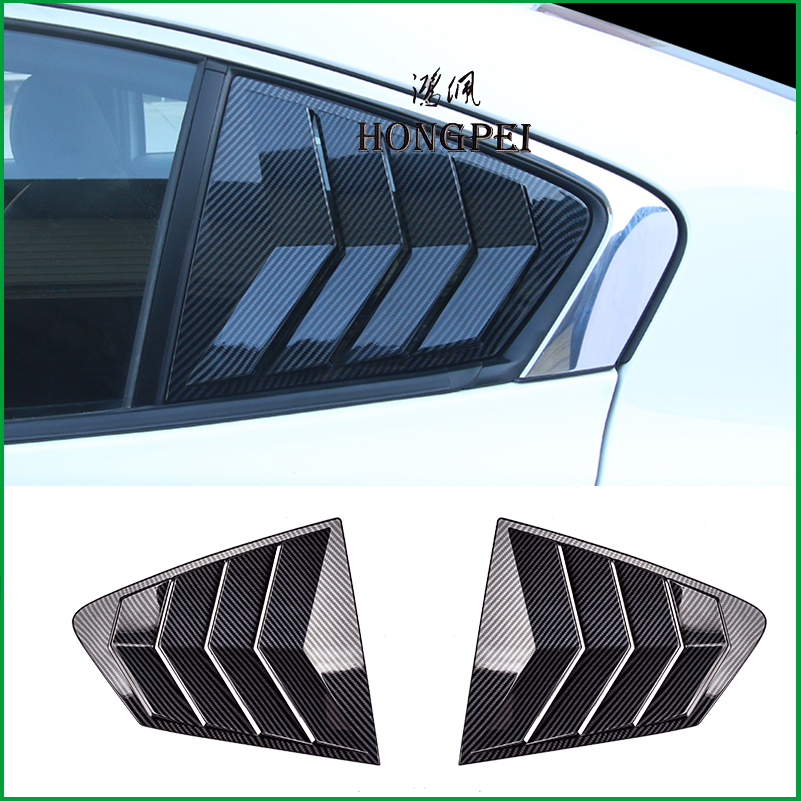 For Mazda 3 <font><b>Mazda3</b></font> Sedan <font><b>2019</b></font> 2020 Rear triangle window Louvers Vent Louver Frame Molding Cover Sticker Trim Car Styling image