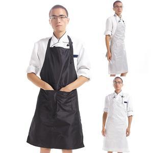 PVC impermeable sin mangas trabajo de cocina Chef camarero bolsillo delantal largo para hombres/mujeres