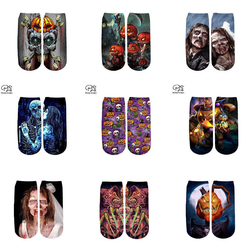 Halloween Tim Burton Corpse Bride Socks Harajuku 3d Skull Print Men Women Funny Pumpkin Socks Fashion Summer Spring Ankle Socks