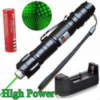 High Power Military Burning Laser Pointer 450nm Powerful Fire Green Visible Beam Sight Torch Laser Light Pen Cat Toy Tactical