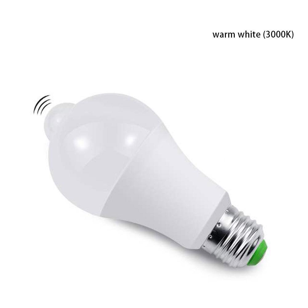 E27 лампа энергосберегающий светодиодный супер яркий свет управления тела сенсор свет AC85V-265V Индукционная лампа - Испускаемый цвет: A