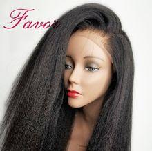 Kinky prosto koronki przodu włosów ludzkich peruk Pre oskubane dla czarnych kobiet 13x4 Remy brazylijski włosy Yaki koronki przodu peruki z włosów ludzkich na rzecz