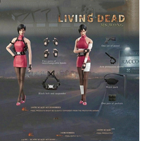 1/6 Hot Heart FD006a Zombie Killer Mystery Female S p y Ms.Wong Clothes Set W/head without Body