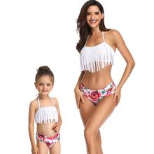 Family Swimsuit Mommy and Me Clothes Bikini Beach Shorts Mother Daughter Swimwear Baby Girl And Mom Outfits Family Matching Look family swimsuits mommy and me clothes mother daughter swimwear floral bathing suits mom girls matching outfits bikini dress look