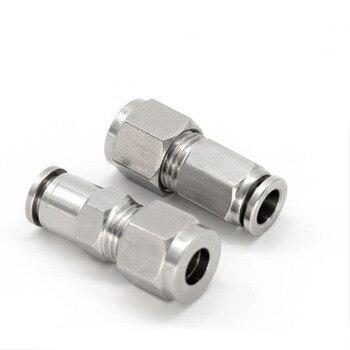 Free shipping 10pcs PZ6-6,PZ8-8,PZ10-10,PZ12-12,PZ14-14,PZ16-16,304 Stainless Steel Bulkhead Connector