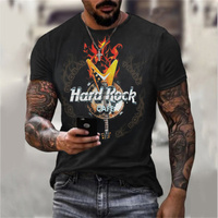 Trendy Hard Rock 3D stampa T Shirt uomo/donna Hip Hop moda Tees estate Casual O collo manica corta Unisex Streetwear XXS-6XL