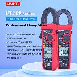 UNI-T UT219E UT219M UT219DS 600A true rms profesjonalnego mierniki cęgowe IP54 pyłu/wodoodporny amperomierz  napięcia LoZ HVAC narzędzie do naprawy