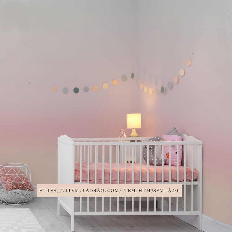 Nordic Wallpaper Girl S Heart Princess Pink Bedroom Wall Modern Minimalist Gradient Pink Wallpaper Ins