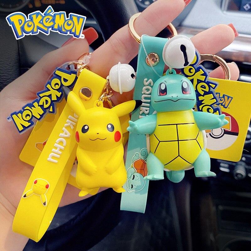 japan-anime-font-b-pokemon-b-font-key-chain-cartoon-cute-pikachu-squirtle-hanging-drop-bulbasaur-pvc-psyduck-pendant-jigglypuff-key-ring