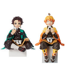 Premium Chokonose Figure Anime Demon Slayer Kamado Tanjirou Agatsuma Zenitsu Eat Rice Balls PVC Action Figure