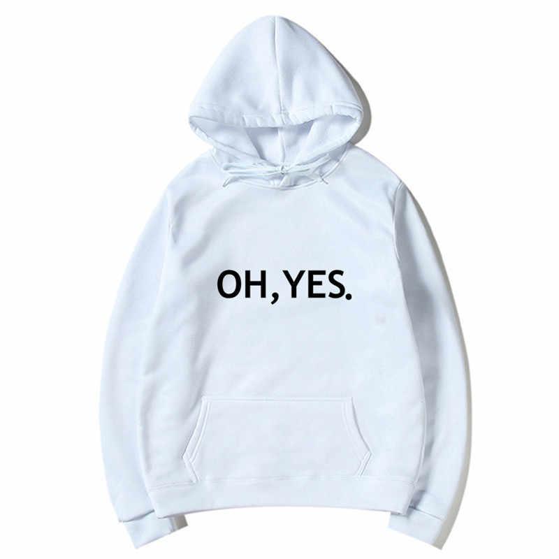 Oh Ja Nieuwe Mode Sweatshirt Lange Mouwen Brief Harajuku Print Off Wit Truien Tops O-hals Heren Hoodies Sweatshirt Tops