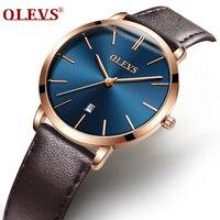 Watches Women Top Brand Luxury Ultra Thin Auto Date Leather Black Waterproof Rose Gold Dress Clock Wrist Watch Ladies Female