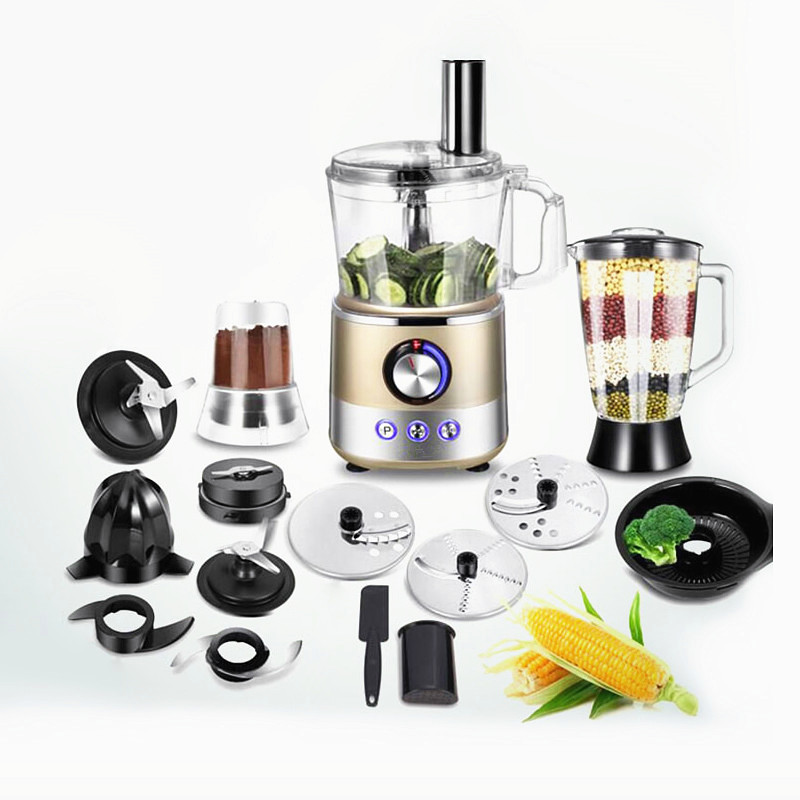 220V multifonctionnel entièrement automatique électrique presse-agrumes fruits centrifugeuse Machine broyeur mélangeur légumes trancheuse poudre broyeur EU/AU/UK