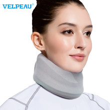 VELPEAU Neck Brace for Neck Pain and Support Soft Cervical Collar for Sleeping Cervical Decompression with Replacement Cover