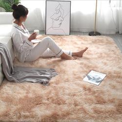 RULDGEE Shaggy Tie-teinture tapis imprimé Alfombra peluche sol tapis moelleux chambre d'enfants fausse fourrure tapis de salon tapis soyeux