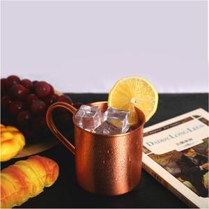 Image 4 - Mug pour cocktails de moscou, avec poignée en cuivre pur Style européen et américain, tasse de Bar pour boissons froides, h3