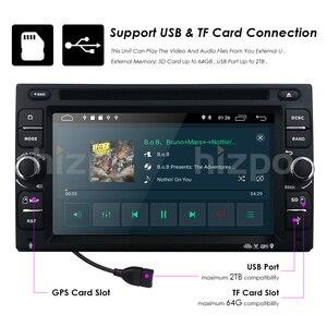 Image 5 - אנדרואיד 10 אוטומטי רדיו Ouad Core 6.2 אינץ 2DIN אוניברסלי לרכב נגן DVD GPS סטריאו אודיו ראש יחידה 4 3GWIFI DAB DVR OBD2 SWC 2G + 16G
