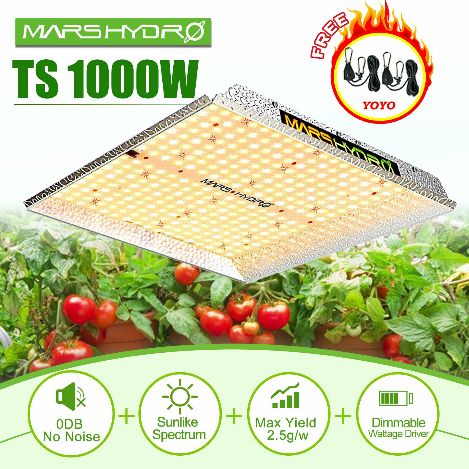 Sale! Mars Hydro TSW 1000W 600W Combo With LED Grow Light Full Spectrum Best For Hydro Plant Veg Flower
