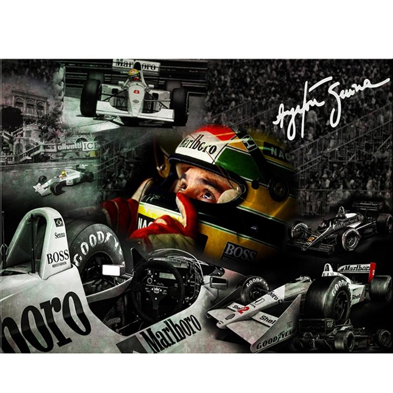 Racing Senna tex F1 Racer trapano completo 5D ricamo diamante fai da te 5D pittura diamante fai da te punto croce decorazioni con strass