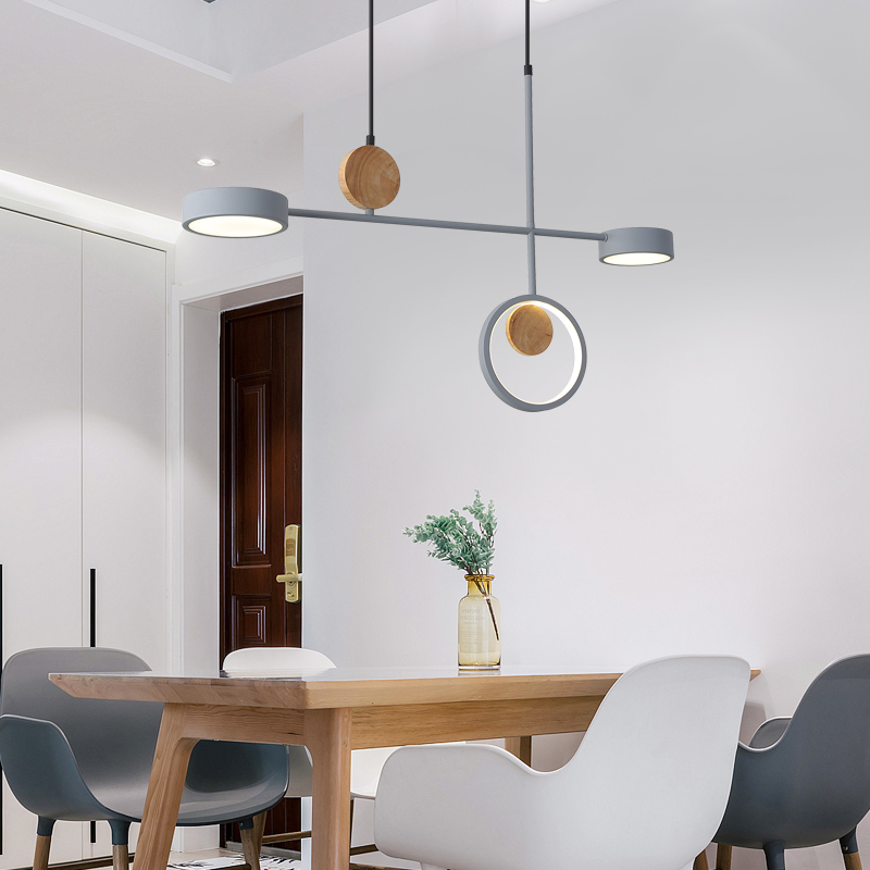 Gray Color Led Pendant Lights Indoor Balcony Loft Nordic Lamp Home Hanging Lighting Kitchen Parlor Art Modern LED Pendant Lamps