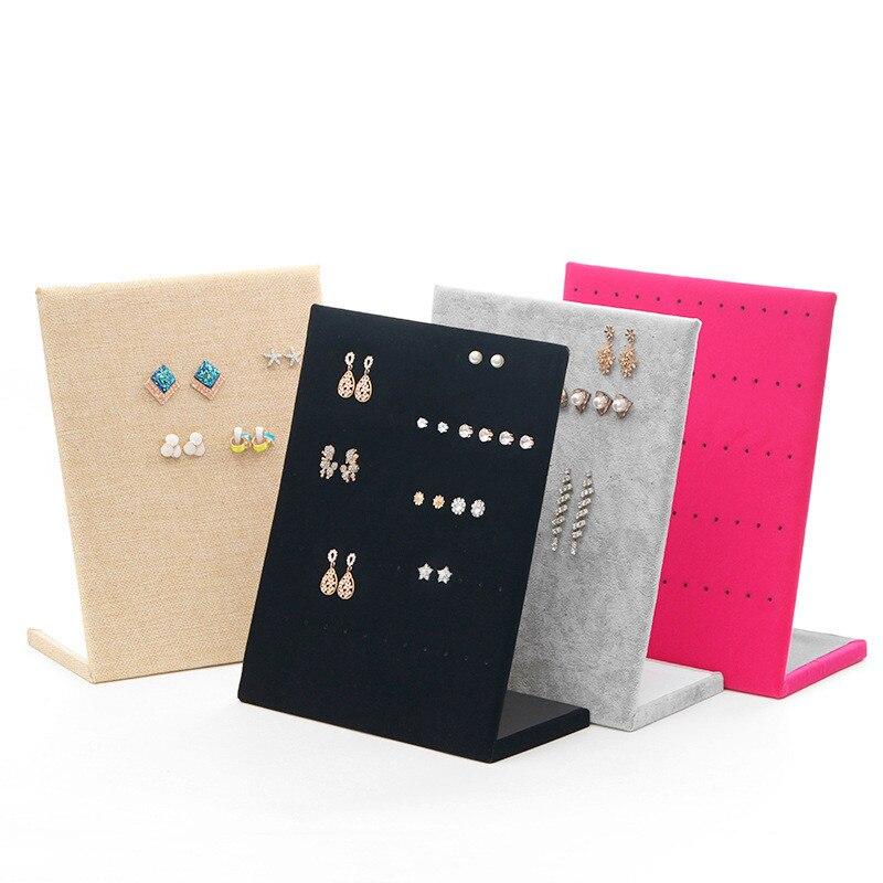 Showcase Rack Jewelry Earring Board Holder Ear Studs Pin Shelf Display Stand Board Jewelry Display Stand Earring Holder