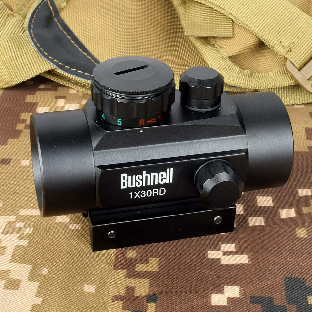 הולוגרפית 1x30 Red Dot Sight Airsoft אדום ירוק צלב Sight היקף ציד היקף 11mm 20mm רכבת הר Collimator Sight title=