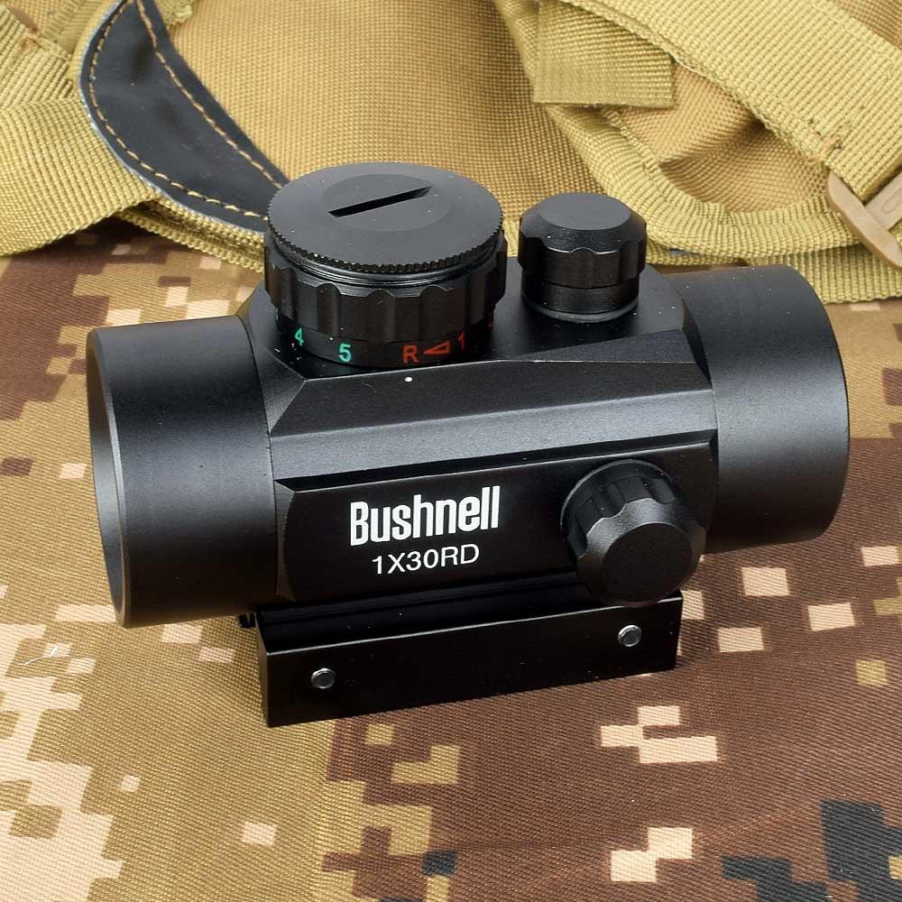 Olografica 1x30 Red Dot Sight Airsoft Rosso Verde croce Mirino Caccia Scope 11 millimetri 20 millimetri Ferroviario montaggio Collimatore Sight