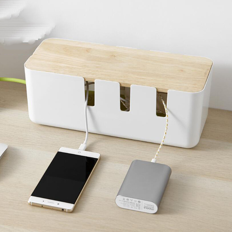 Plastic Power Strip Cord Socket Storage Box Electric Wire Storage Organizer Cable Collect Cases Power Strip Cord Storage Box